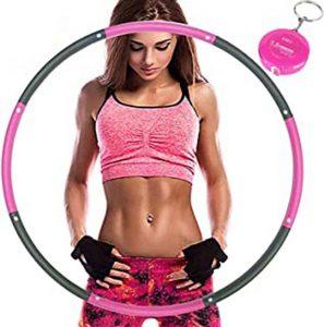HONEYWHALE Hula Hoop Cerceau pour Adulte Amovible Fitness Hula Hoop pour Perte de Poids